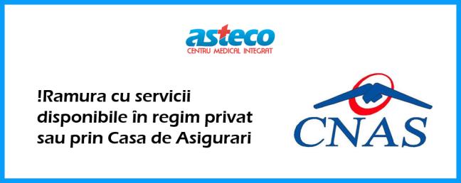Servicii CAS Centrul Medical Asteco Cluj Napoca